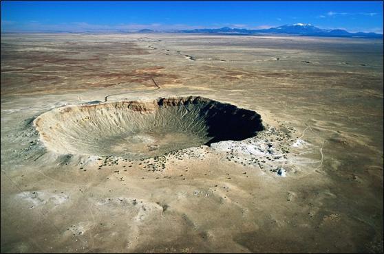 meteorski krater slika